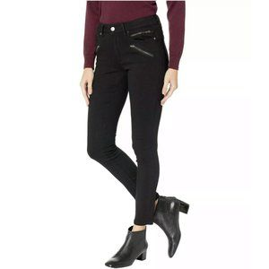 Kenneth Cole Moto Black Skinny Jeans Size 4